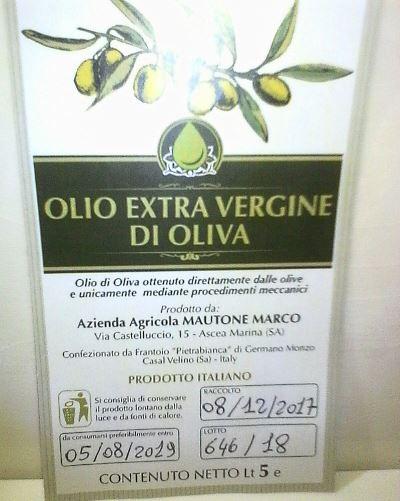 Olio Extra Vergine d oliva Marco Mautone